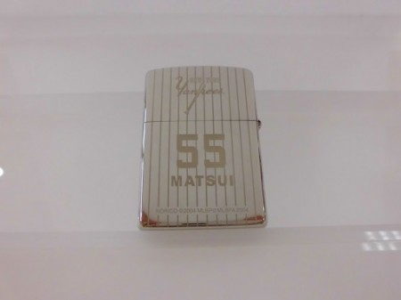 ZIPPO限定品 松井選手(背番号55) Platinum Plate 両面加工
